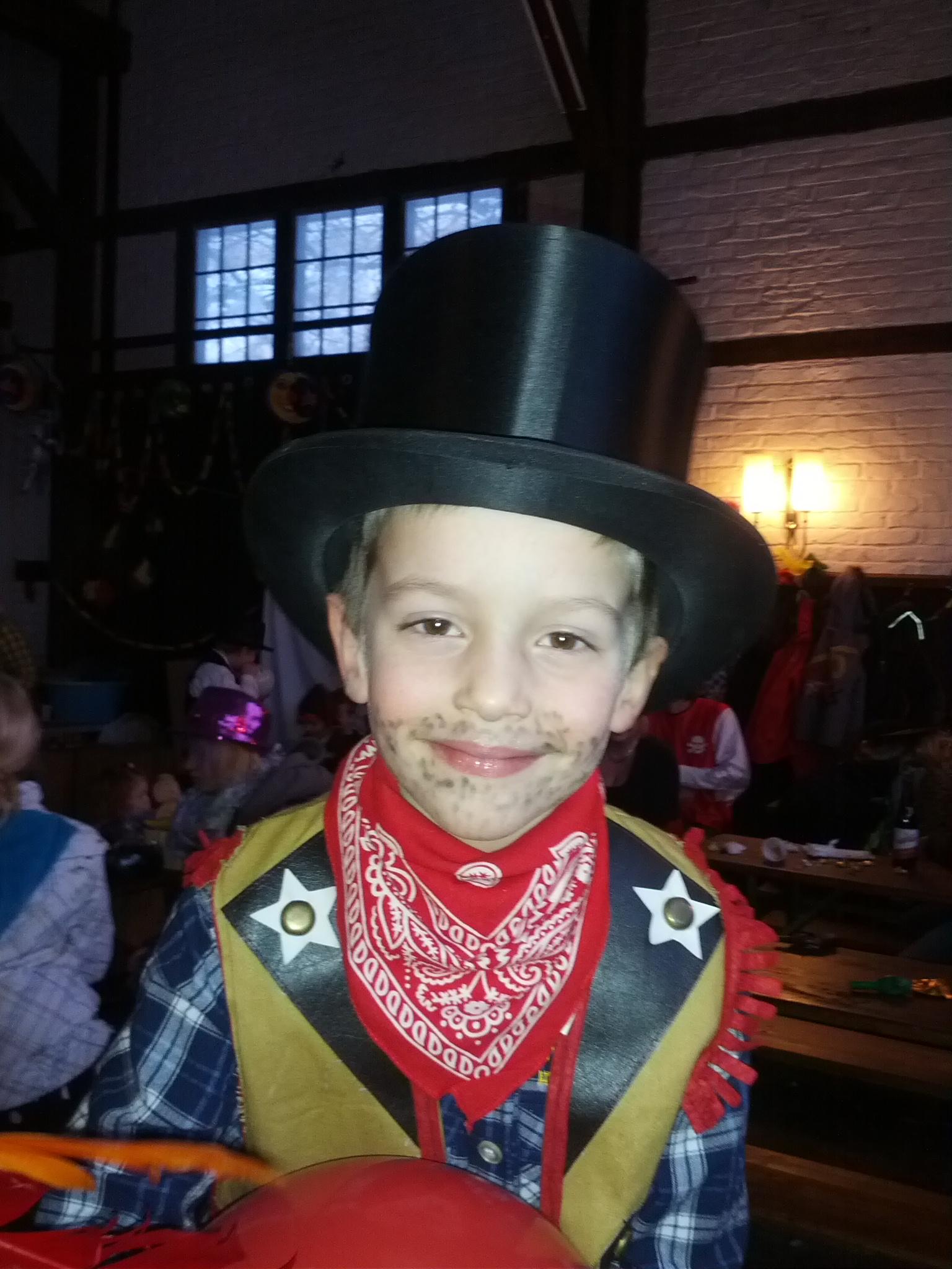 Der Cowboy mit falscher Kopfbedeckung!